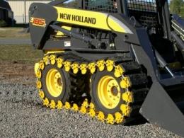 """Резиновые гусеницы на шины 12"""" (12 дюймов) для колесных универсальных мини погрузчиков."""