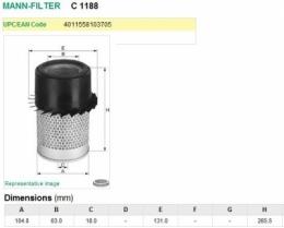 326483 Фильтр воздушный для погрузчика Hyster