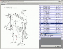 Mitsubishi ForkLift Trucks содержит каталог деталей вилочных погрузчиков